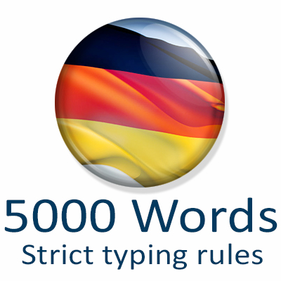 5000 words sorted by frequency (strict typing)